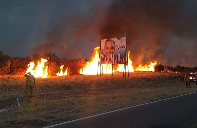 Villa Larca: Incendio forestal de interface fuera de control