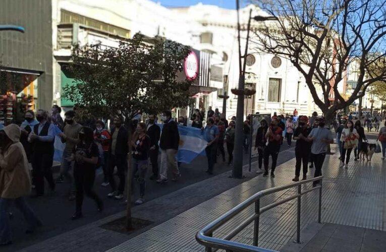 San Luis: Puntanos autoconvocados marcharon en contra de las medidas del Gobierno