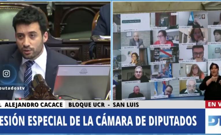 Alejandro Cacace: «Esta sesión no es válida»