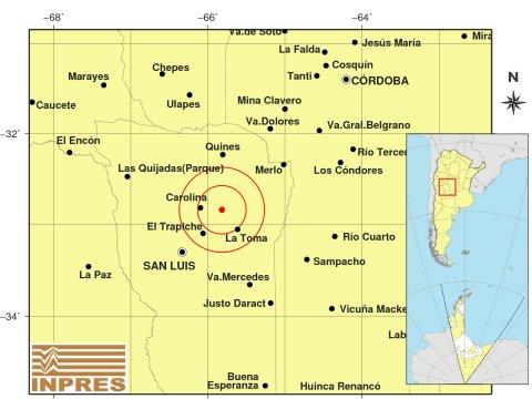 Un temblor sacudió levemente La Carolina