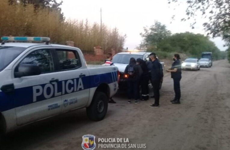 La Policía descubrió una fiesta clandestina en Villa Mercedes