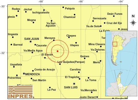 Fuerte sismo en el noroeste de San Luis