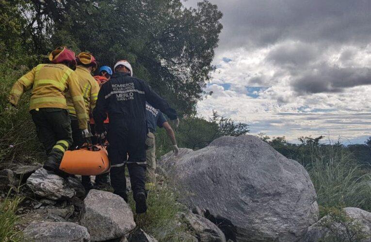 Villa de Merlo: Rescataron a una mujer del arroyo El Molino