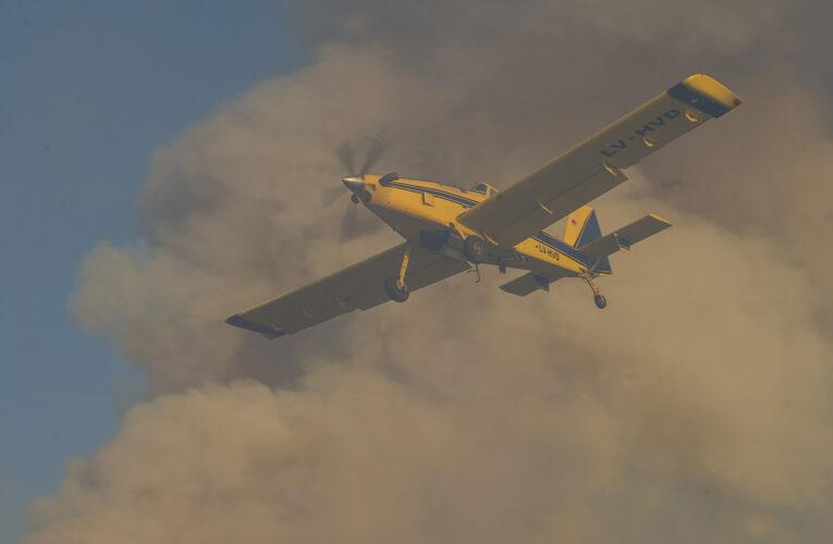 Santa Rosa del Conlara: Nación creará una brigada aérea para la Lucha Contra el Fuego en el centro del país
