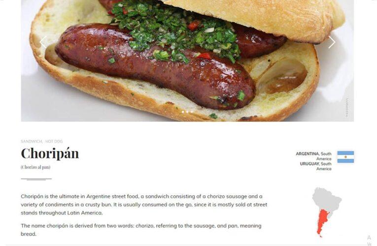 El «choripán» quedó entre los cinco mejores sándwiches del mundo