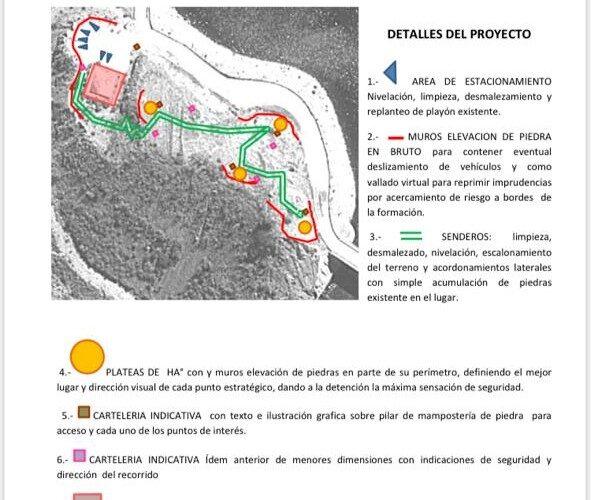 Nogolí: Se construirá una Plaza Mirador en el dique